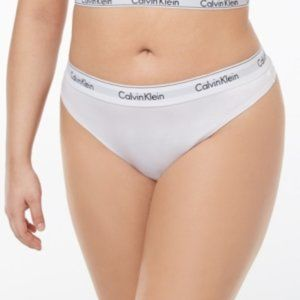 NWT!Calvin Klein Modern Cotton Plus Thong White